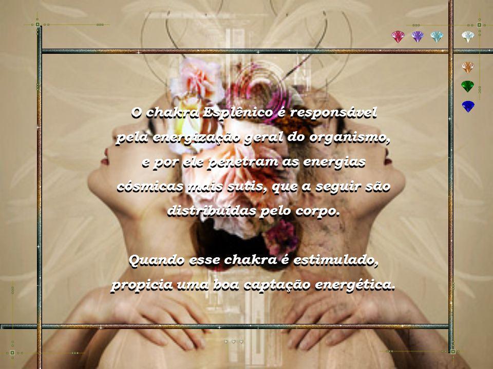O chakra Esplênico é responsável pela energização geral do organismo,