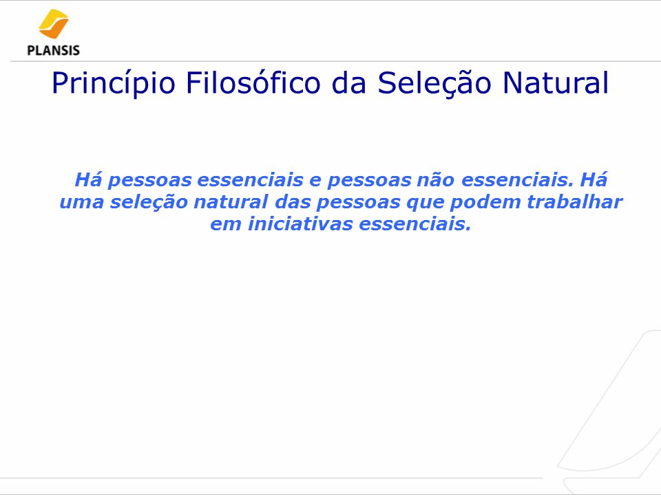 Princípio Filosófico da Seleção Natural