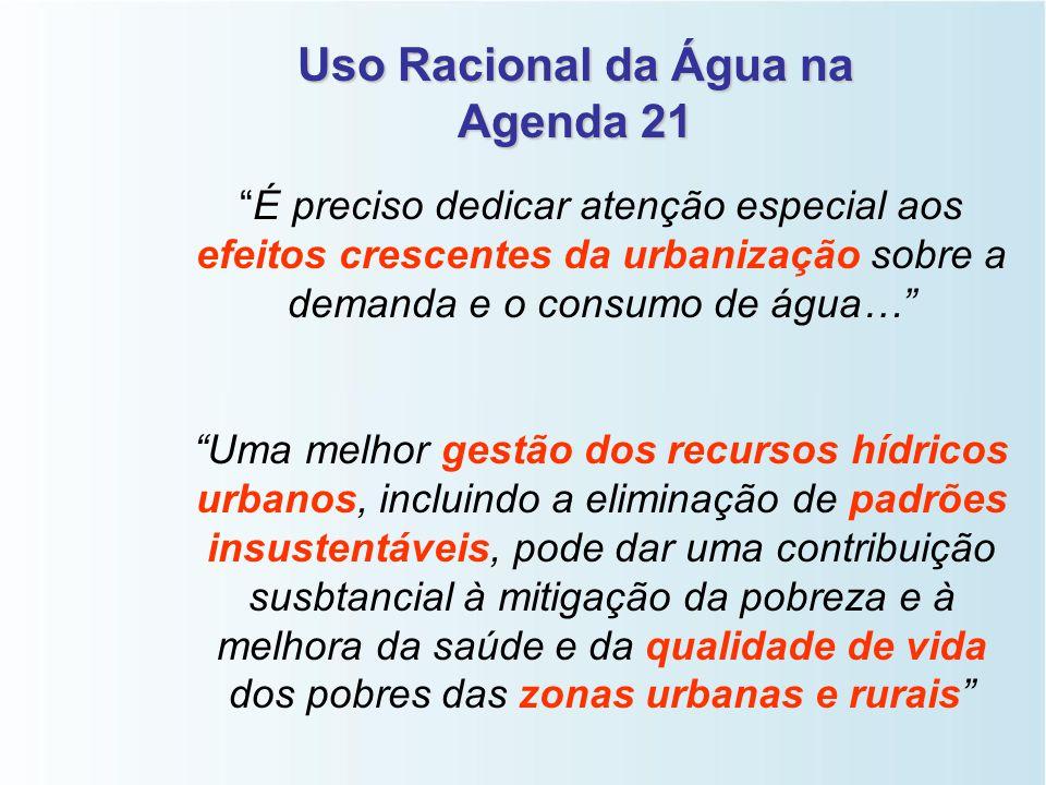 Uso Racional da Água na Agenda 21