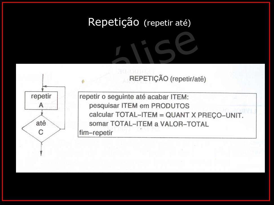 Repetição (repetir até)