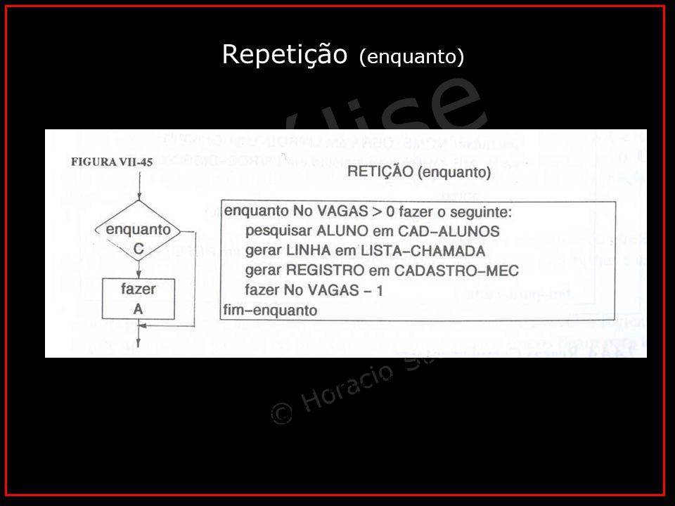 Repetição (enquanto) Caso 03 – Rotina para vendedores