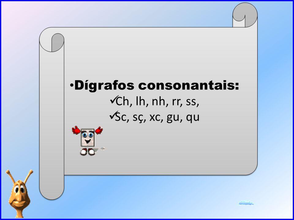 Dígrafos consonantais: