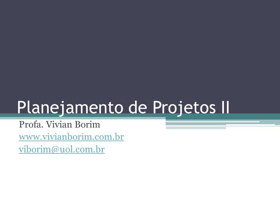 Planejamento de Projetos II