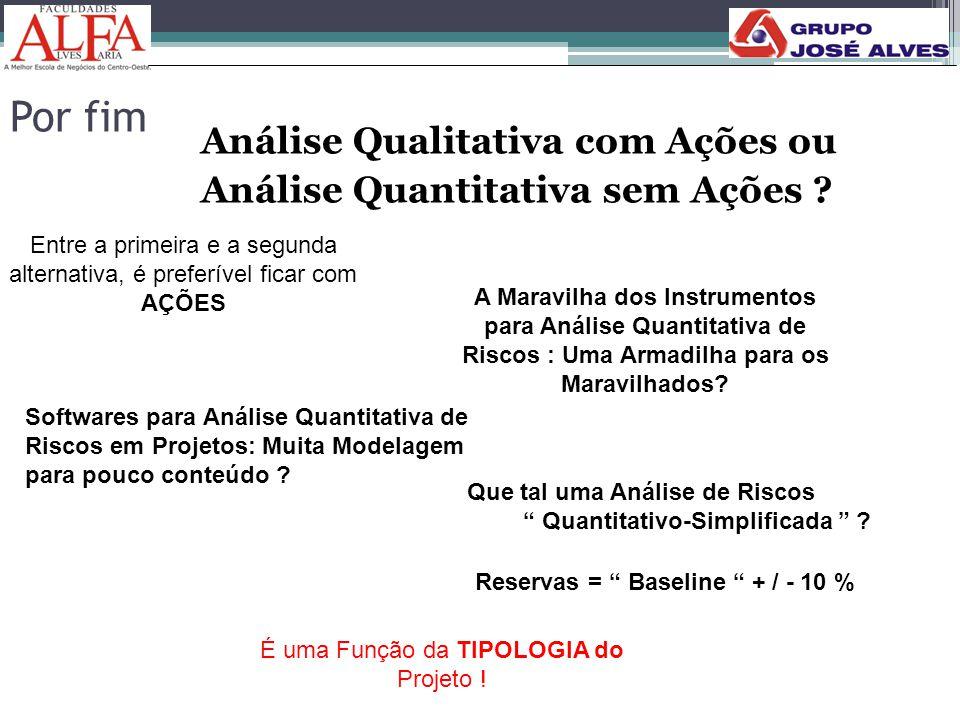 Por fim Análise Qualitativa com Ações ou Análise Quantitativa sem Ações Entre a primeira e a segunda.