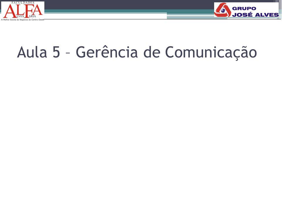 Aula 5 – Gerência de Comunicação