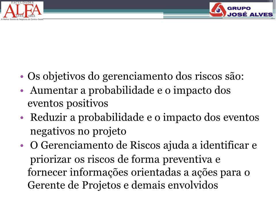 Os objetivos do gerenciamento dos riscos são: