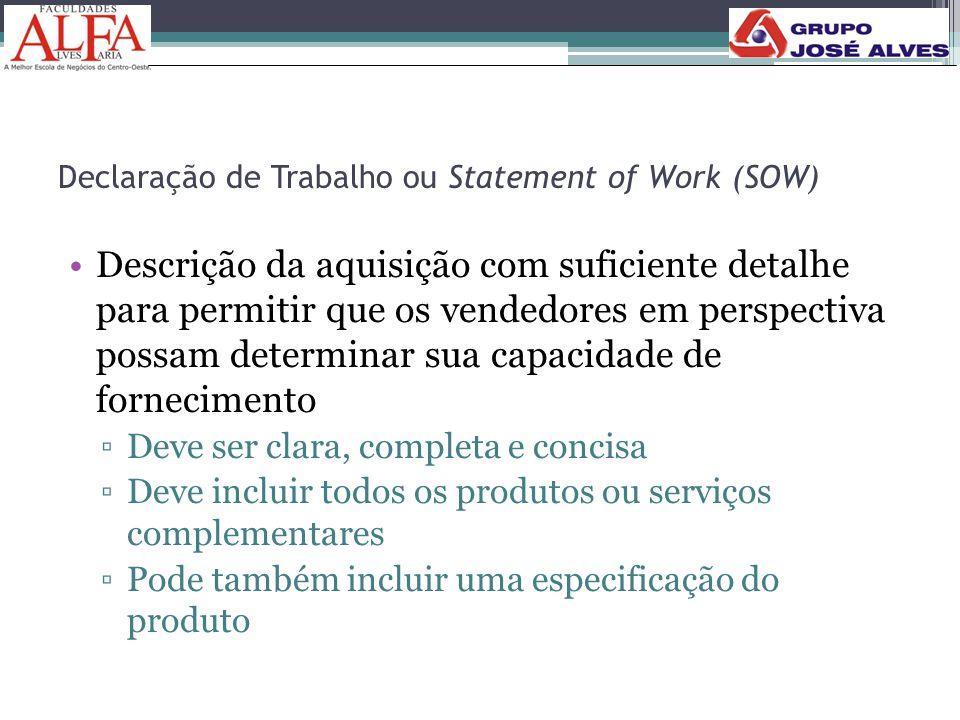 Declaração de Trabalho ou Statement of Work (SOW)