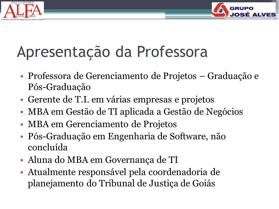 Apresentação da Professora