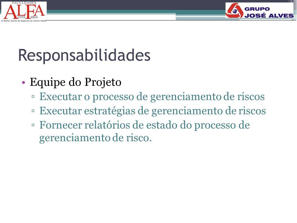 Responsabilidades Equipe do Projeto