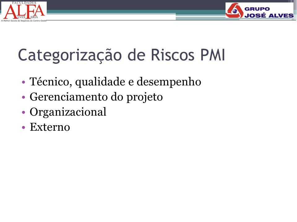 Categorização de Riscos PMI