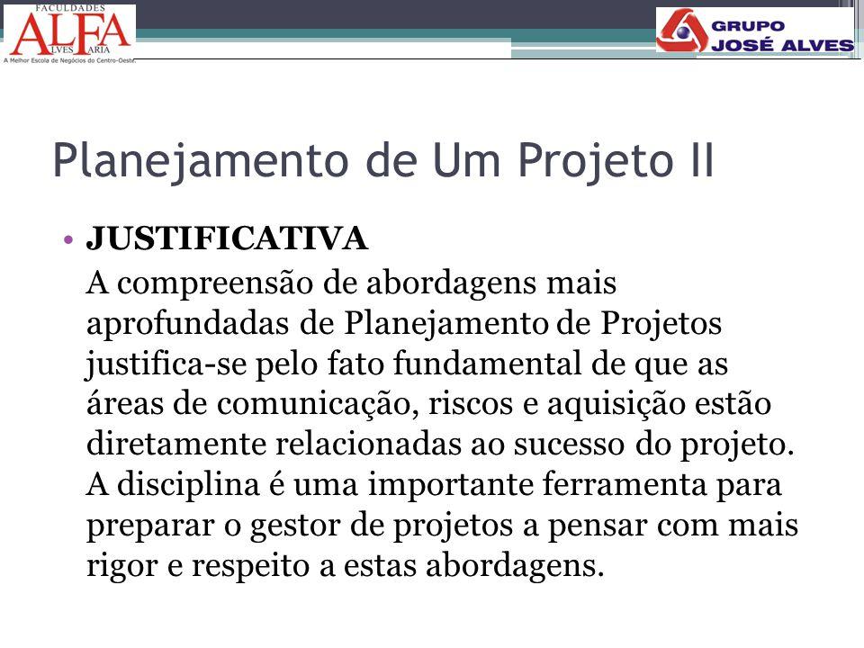 Planejamento de Um Projeto II