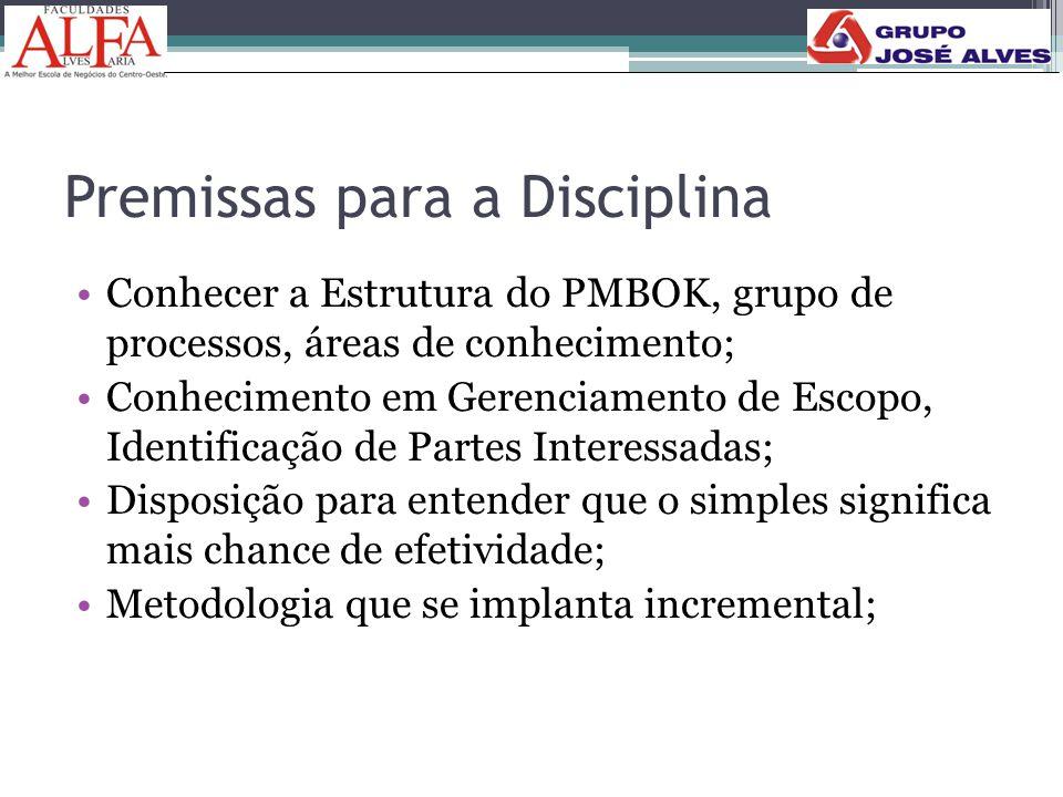 Premissas para a Disciplina