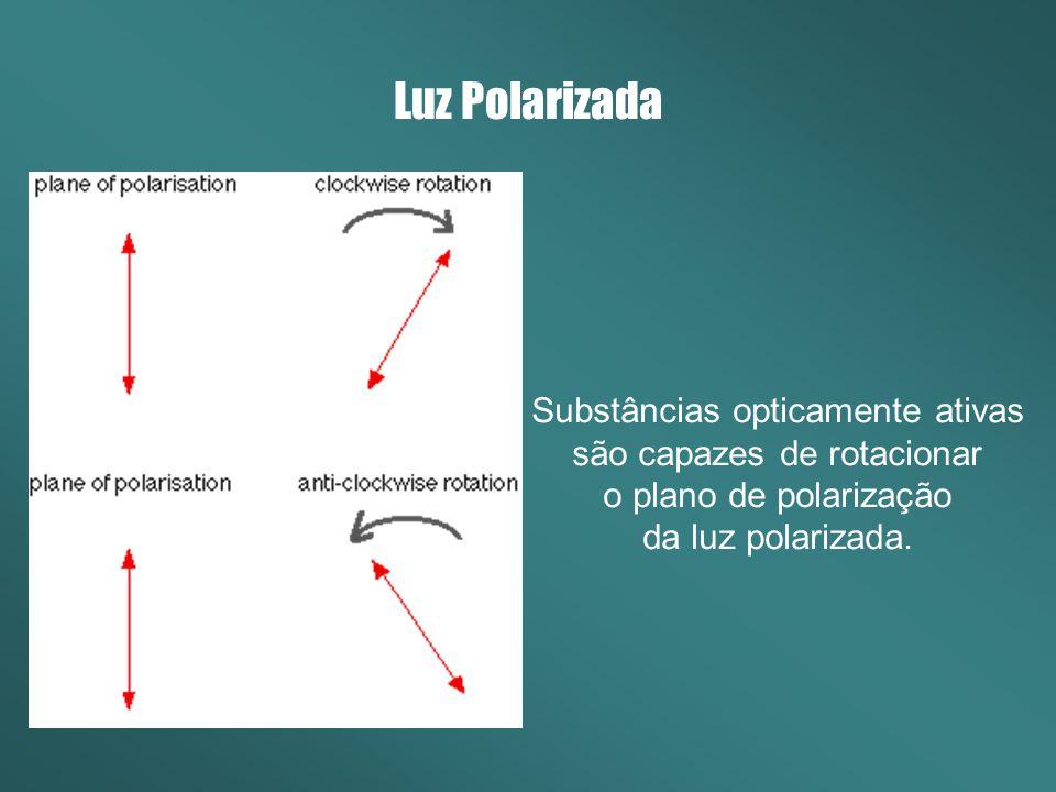 Substâncias opticamente ativas são capazes de rotacionar