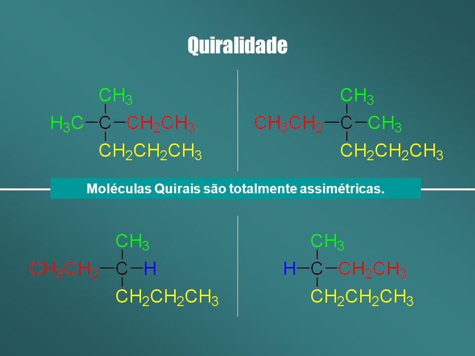 Moléculas Quirais são totalmente assimétricas.