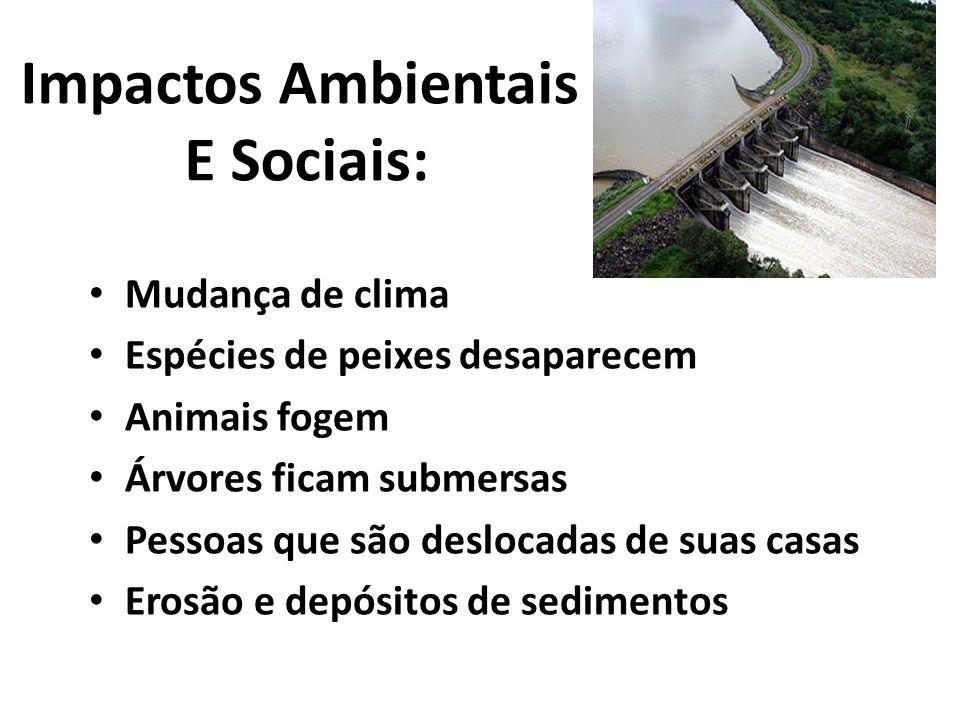 Impactos Ambientais E Sociais: