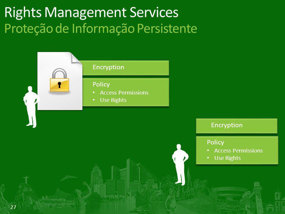 Rights Management Services Proteção de Informação Persistente