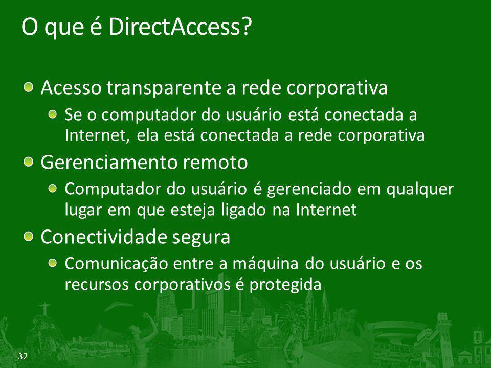 O que é DirectAccess Acesso transparente a rede corporativa