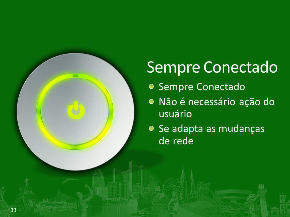 Sempre Conectado Sempre Conectado Não é necessário ação do usuário
