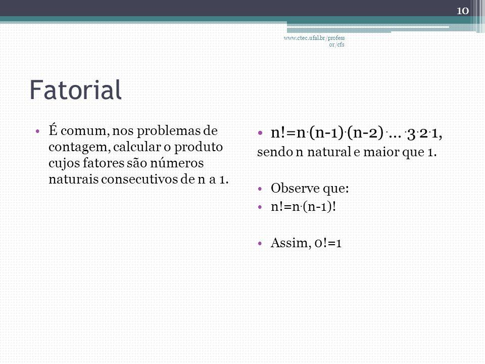 www.ctec.ufal.br/professor/cfs Fatorial.