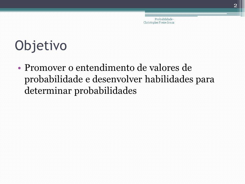 Probabilidade - Christopher Freire Souza