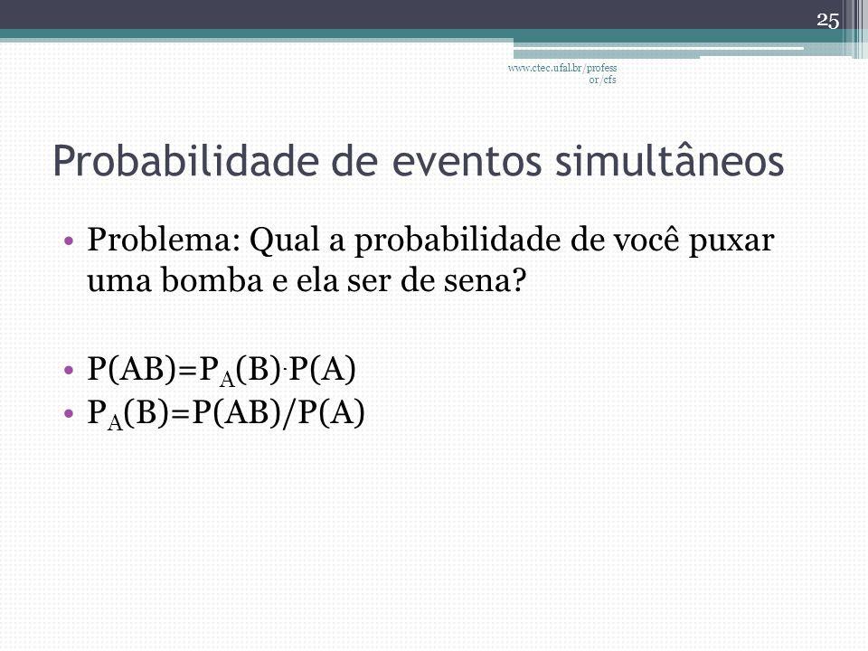 Probabilidade de eventos simultâneos
