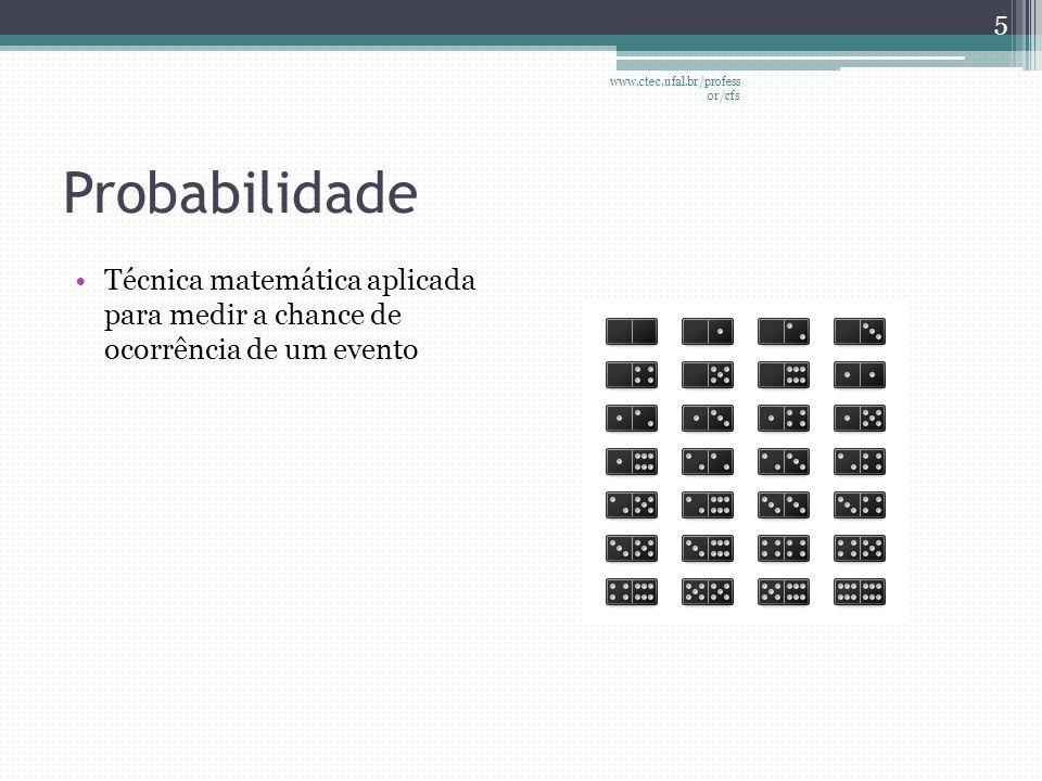 www.ctec.ufal.br/professor/cfs Probabilidade.