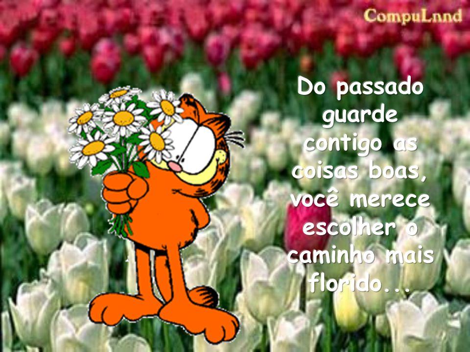 Do passado guarde contigo as coisas boas, você merece escolher o caminho mais florido...
