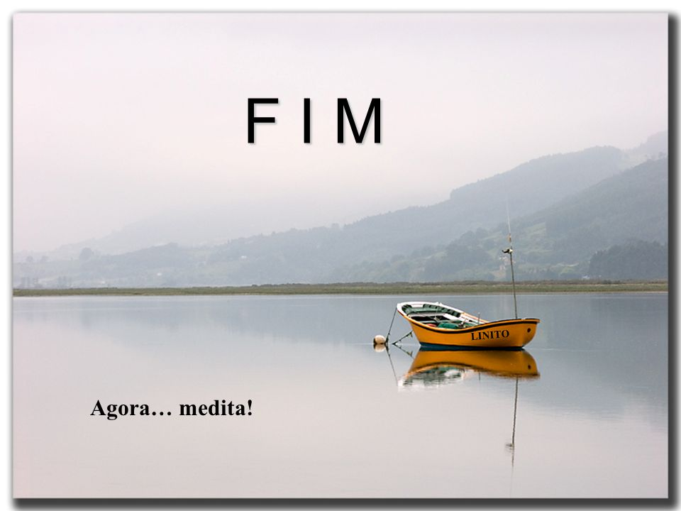 F I M LINITO Agora… medita!