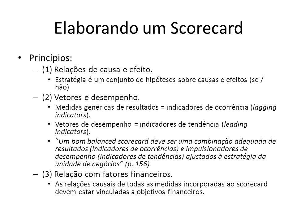 Elaborando um Scorecard