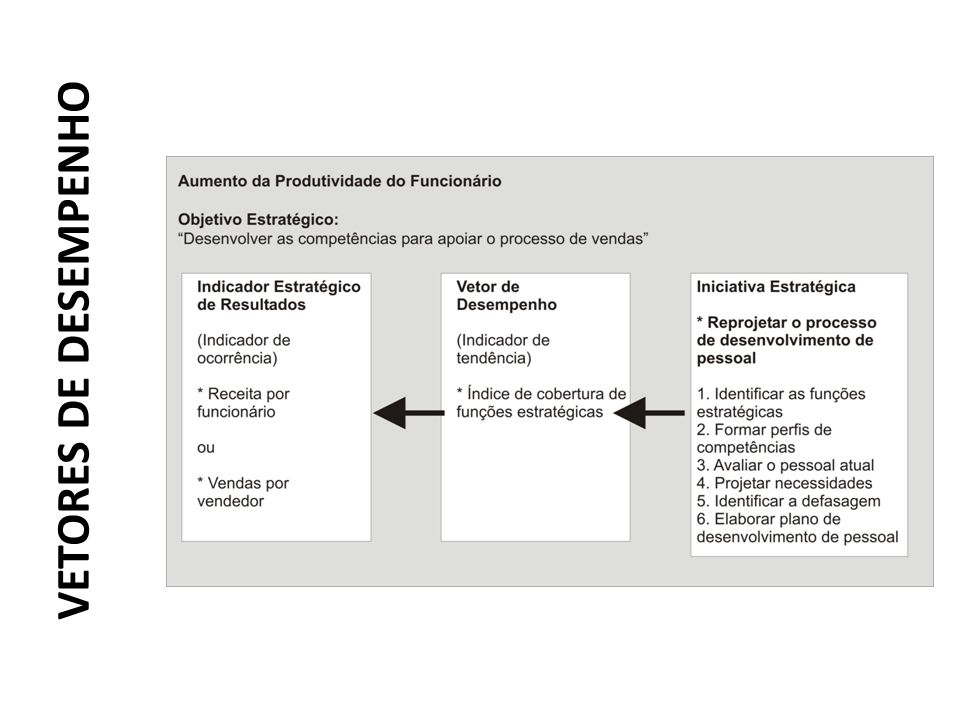 VETORES DE DESEMPENHO KAPLAN, R.; NORTON, D. A estratégia em ação: Balanced Scorecard.