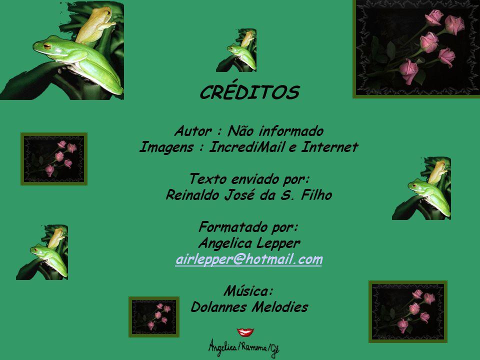 CRÉDITOS Autor : Não informado Imagens : IncrediMail e Internet Texto enviado por: Reinaldo José da S.