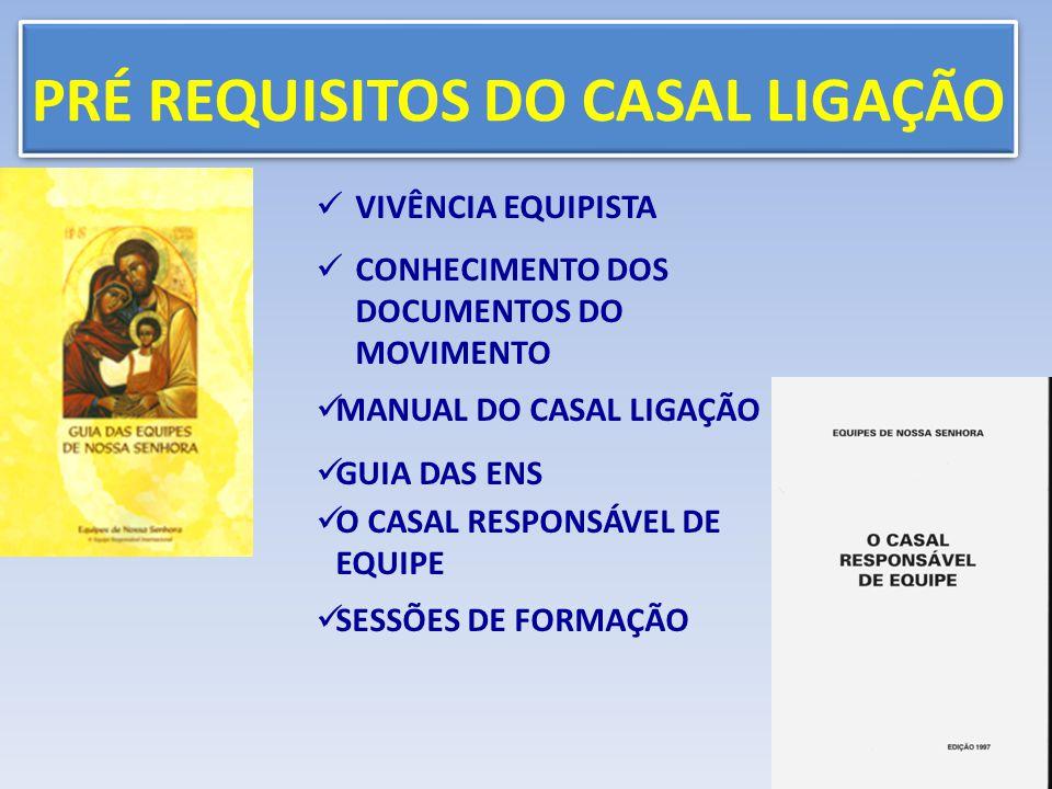 PRÉ REQUISITOS DO CASAL LIGAÇÃO