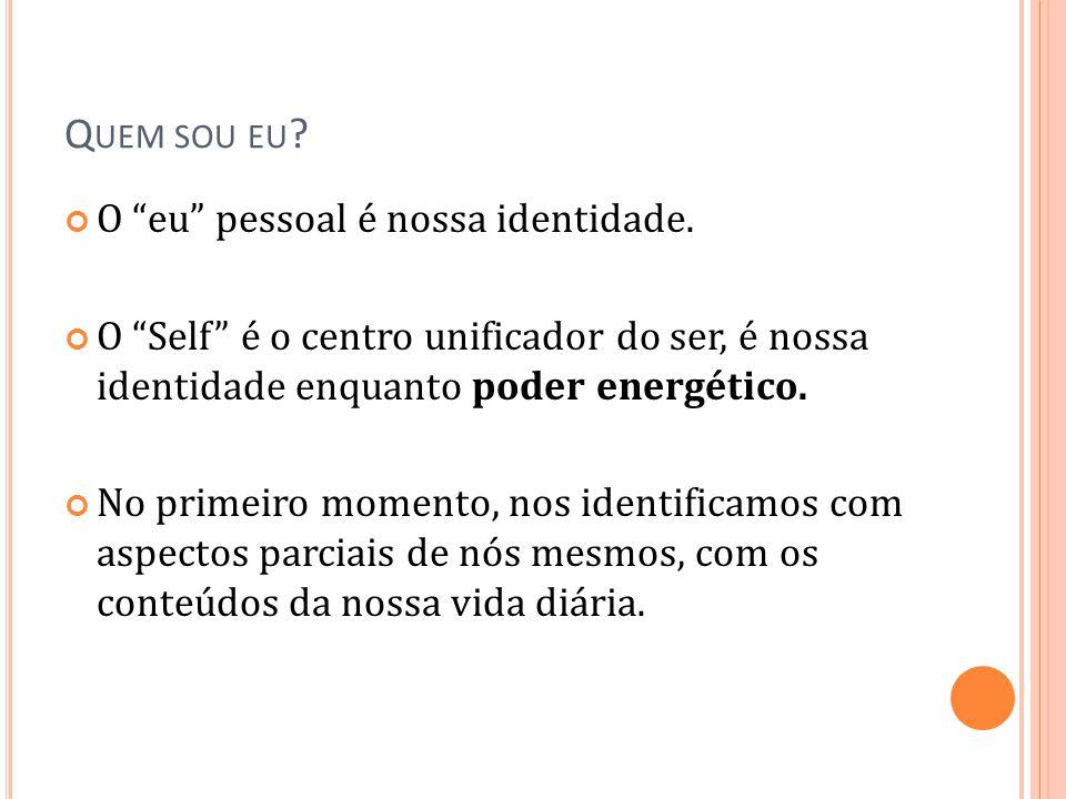 Quem sou eu O eu pessoal é nossa identidade.