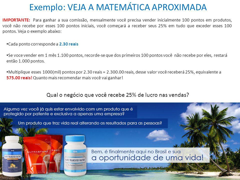 Exemplo: VEJA A MATEMÁTICA APROXIMADA