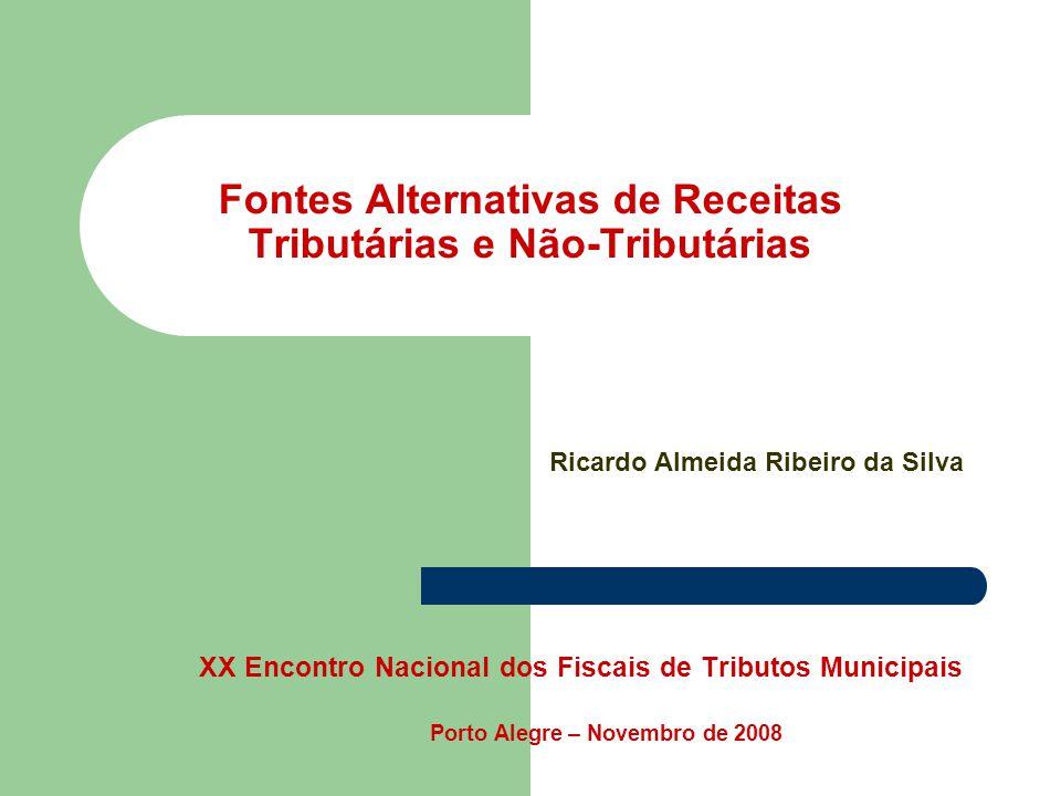 Fontes Alternativas de Receitas Tributárias e Não-Tributárias