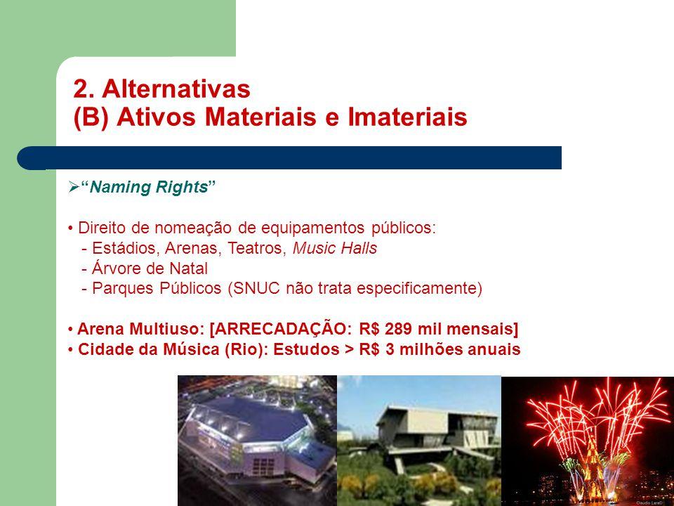 2. Alternativas (B) Ativos Materiais e Imateriais