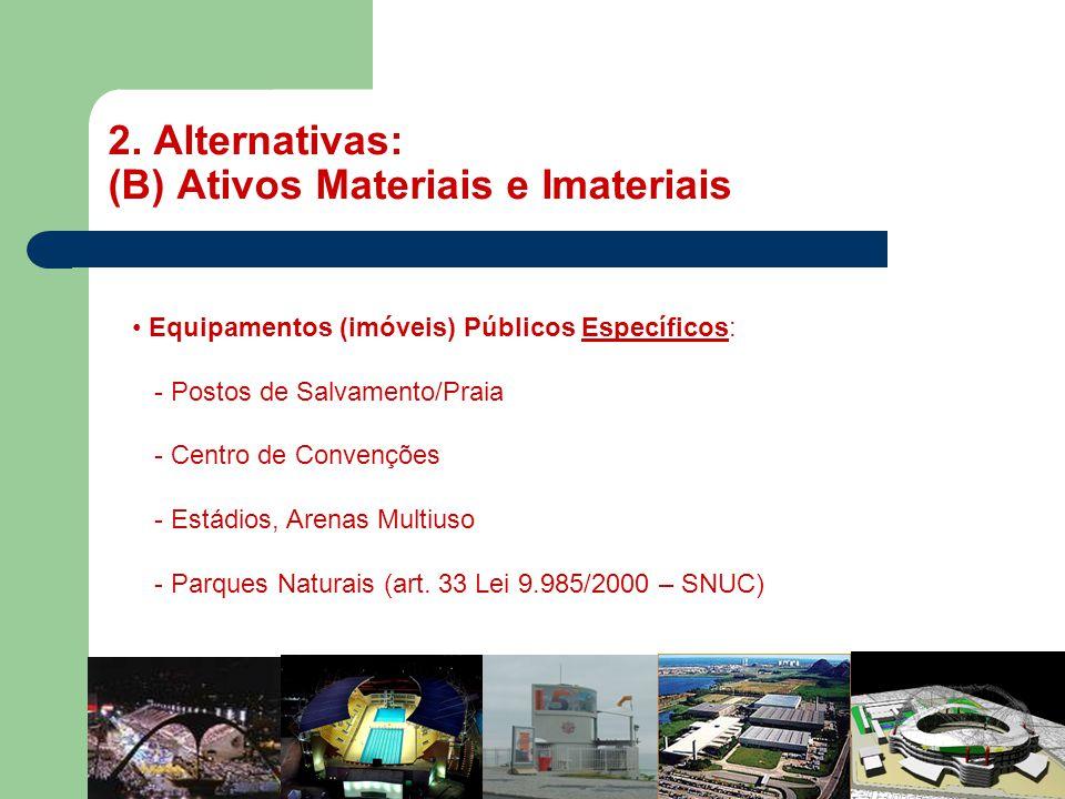 2. Alternativas: (B) Ativos Materiais e Imateriais
