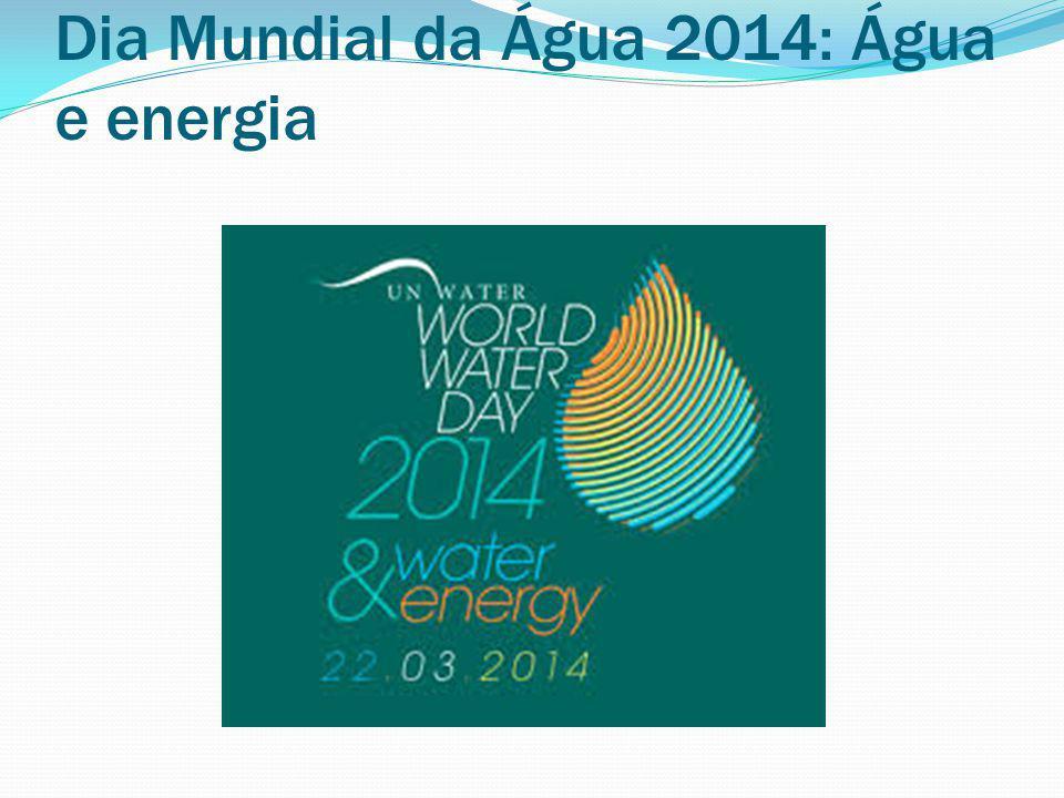 Dia Mundial da Água 2014: Água e energia