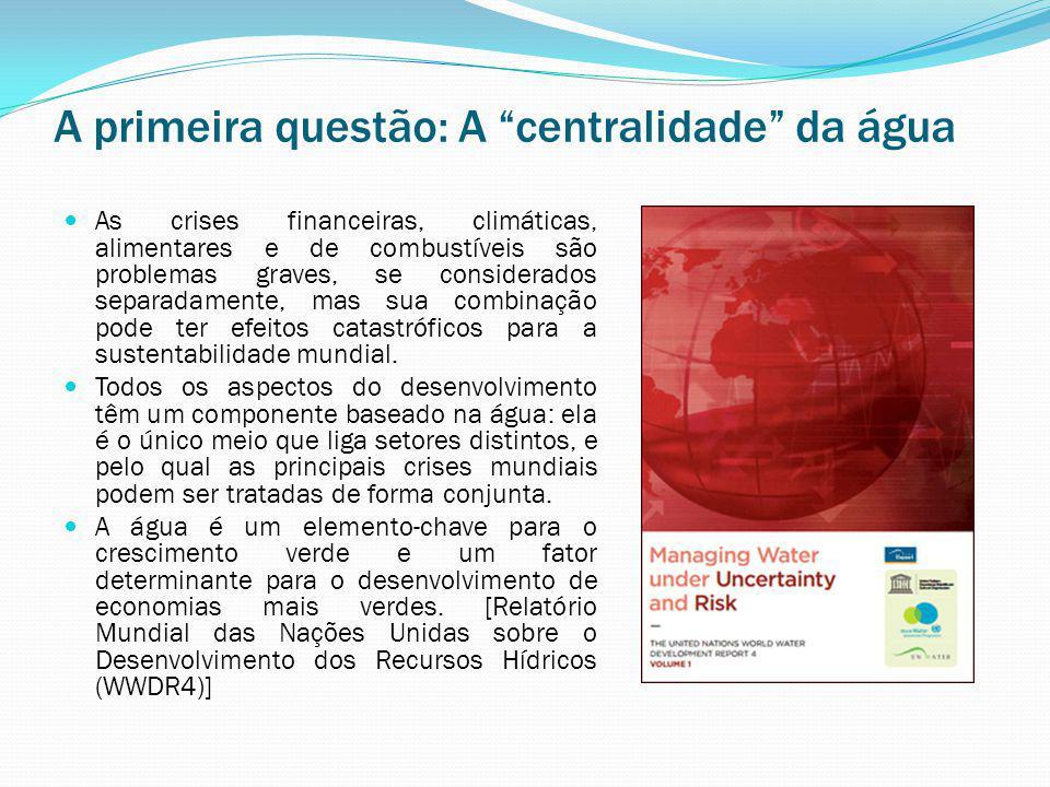 A primeira questão: A centralidade da água