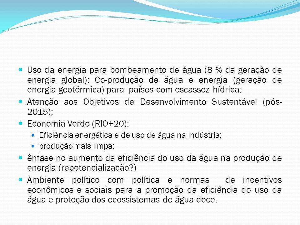 Atenção aos Objetivos de Desenvolvimento Sustentável (pós-2015);