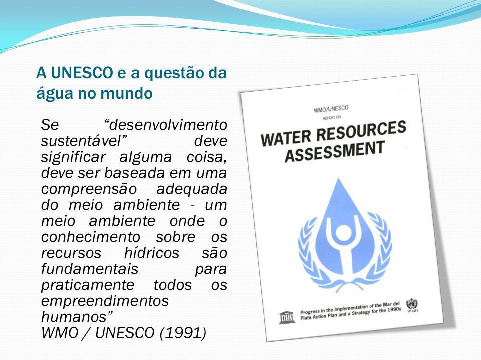 A UNESCO e a questão da água no mundo