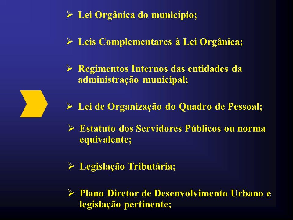 Lei Orgânica do município;