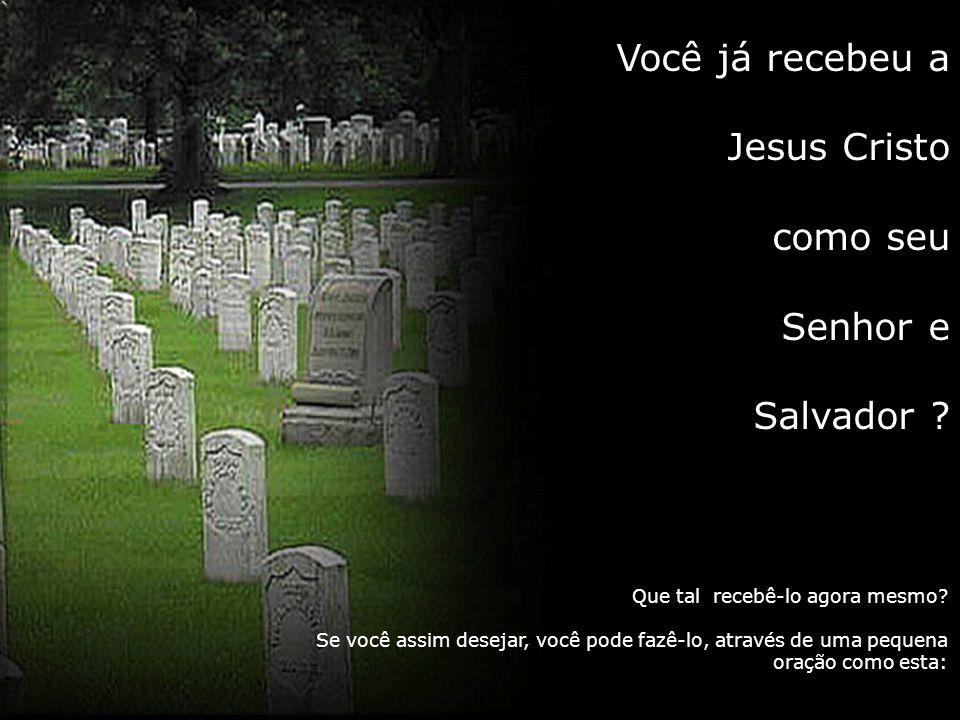 Você já recebeu a Jesus Cristo como seu Senhor e Salvador