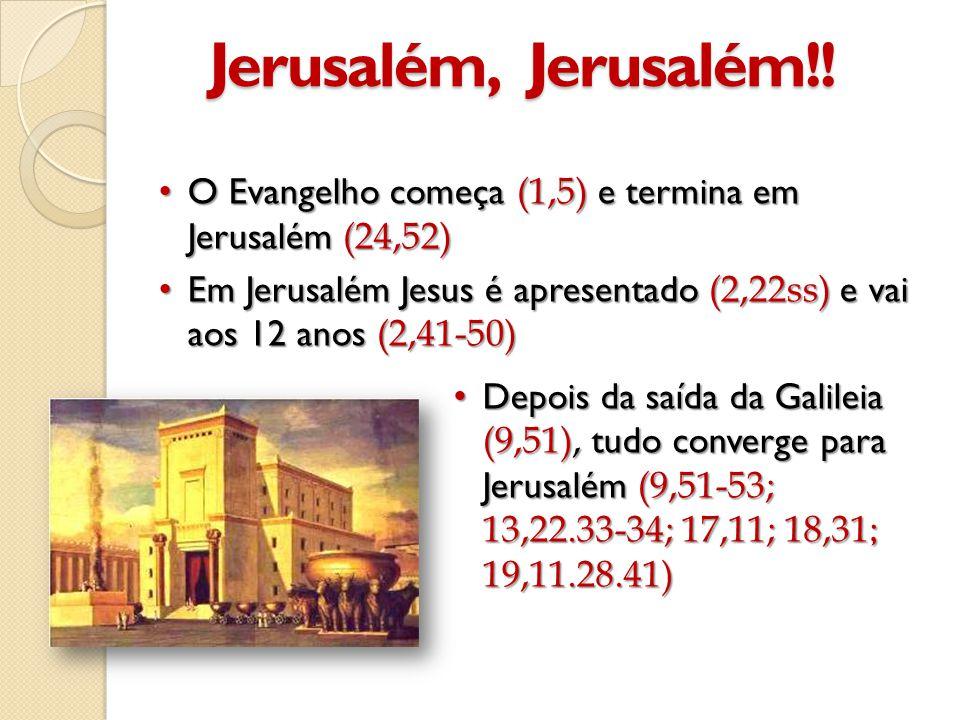 Jerusalém, Jerusalém!! O Evangelho começa (1,5) e termina em Jerusalém (24,52)