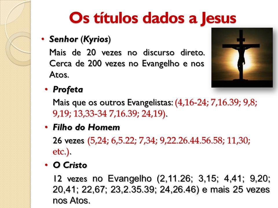 Os títulos dados a Jesus