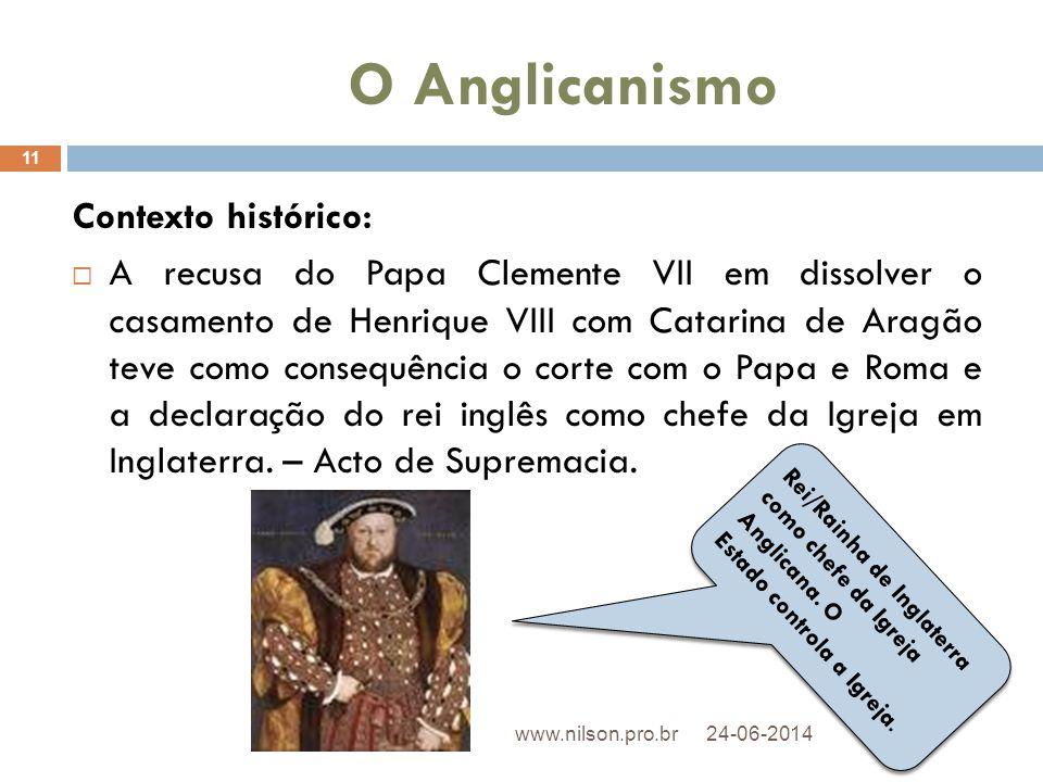 O Anglicanismo Contexto histórico: