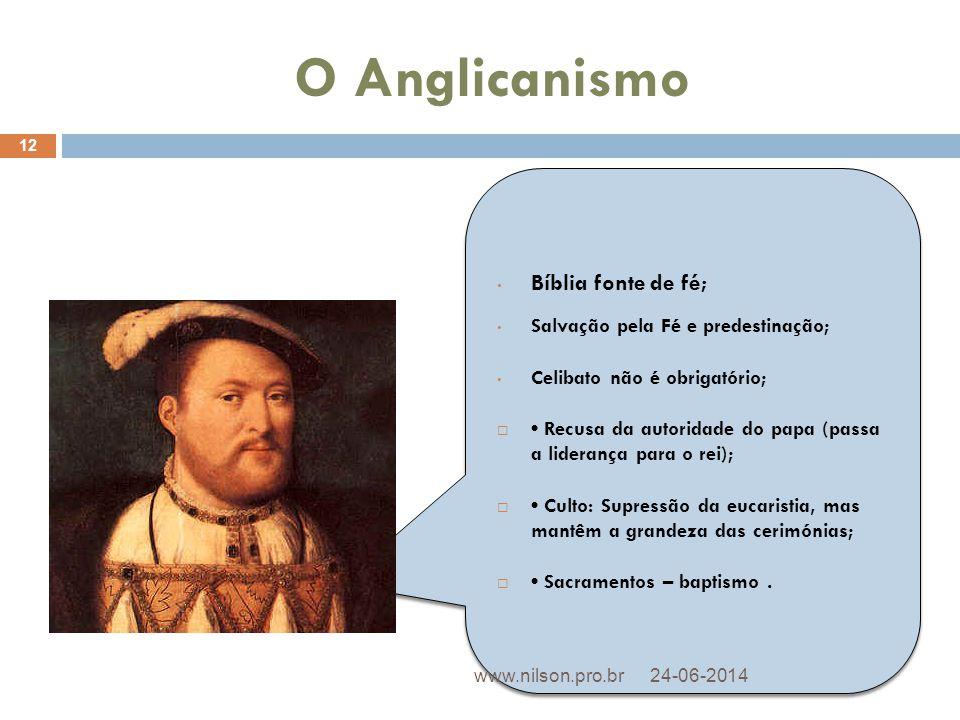 O Anglicanismo Bíblia fonte de fé; Salvação pela Fé e predestinação;