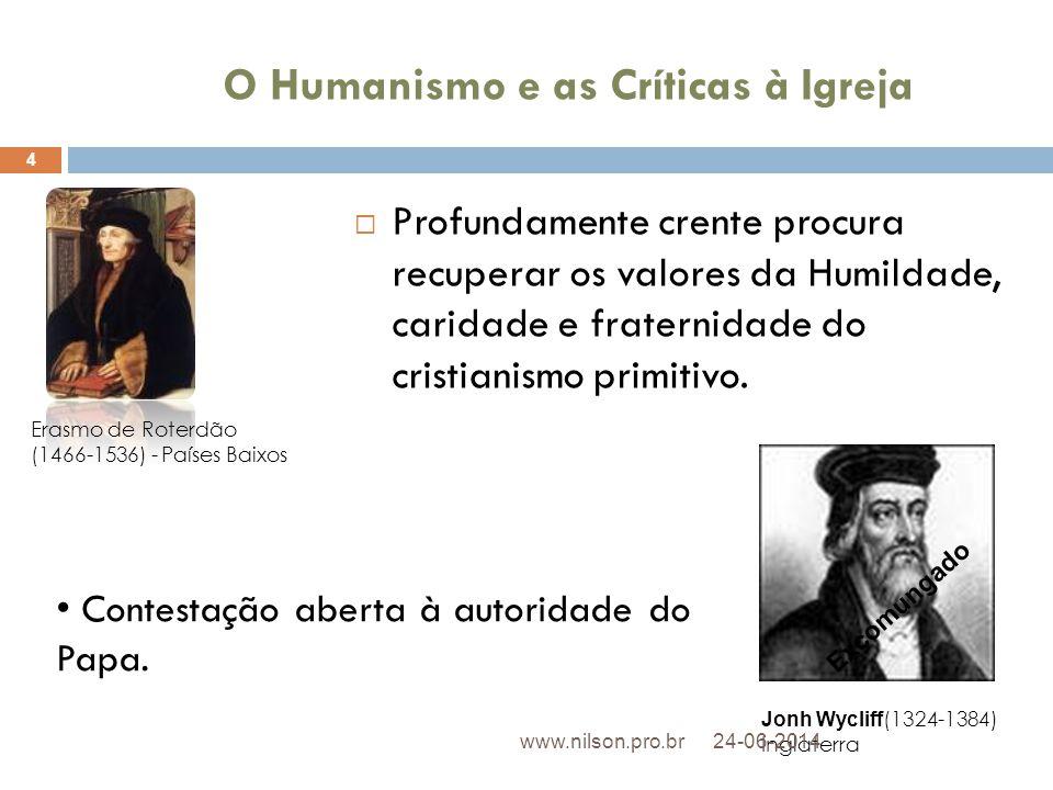 O Humanismo e as Críticas à Igreja