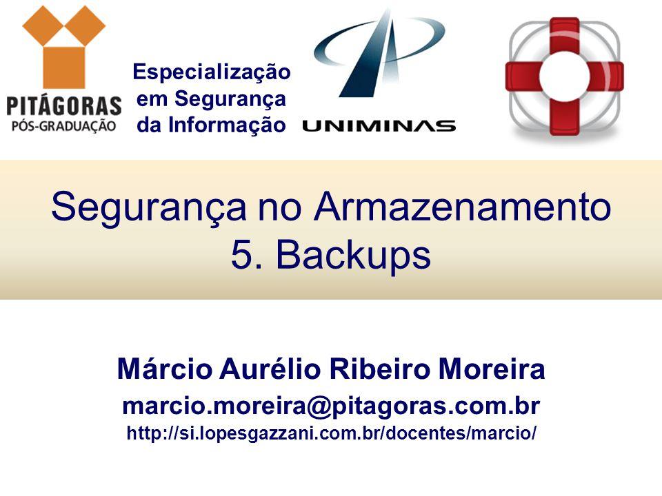 Segurança no Armazenamento 5. Backups
