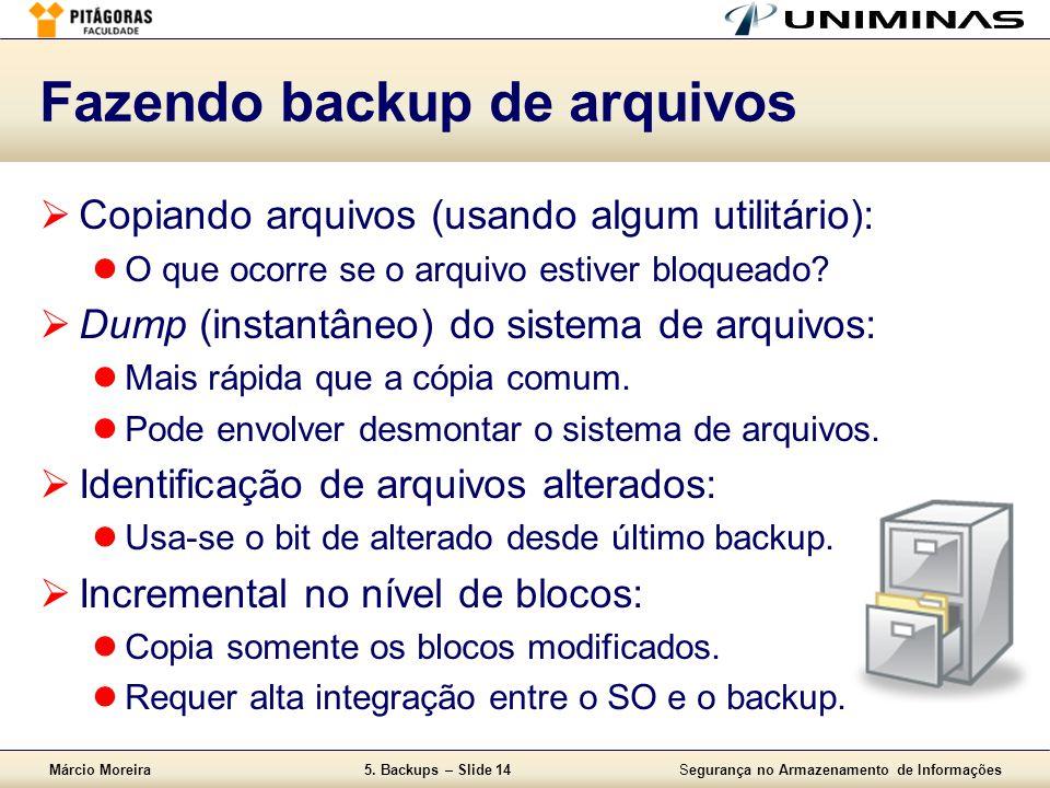 Fazendo backup de arquivos